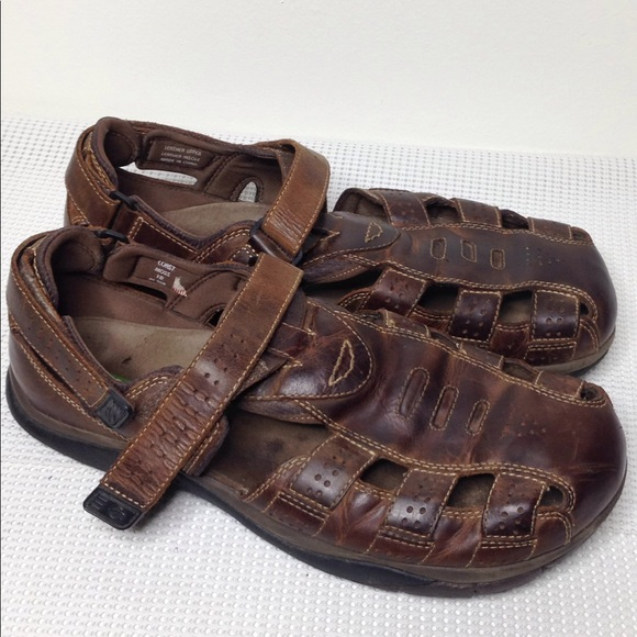 56d5dd82e9e2 earth Other - Earth Brown Leather Fisherman Sandals Straps sz 12